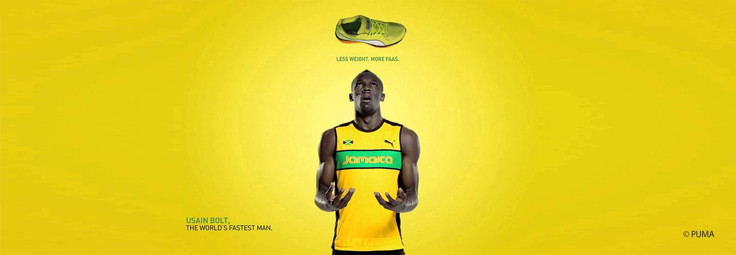Less weight, more faas - with Usain Bolt, Puma